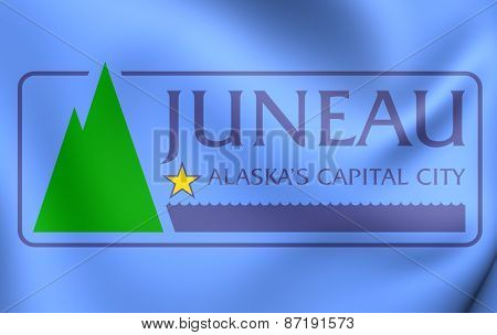 Flag Of Juneau, Alaska.