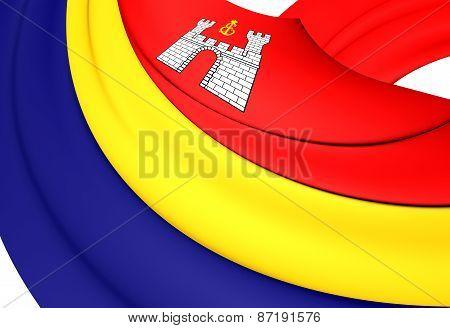 Flag Of Kaliningrad Oblast, Russia.