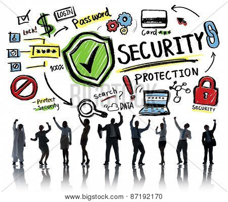 Business People Cheerful Celebration Security Protection Concept