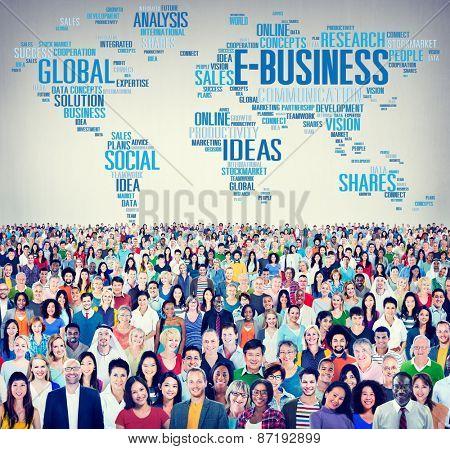 E-Business Ideas Analysis Communication Solution Social Concept