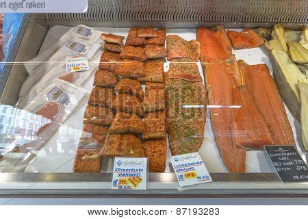 Famous Fish Market In Bergen