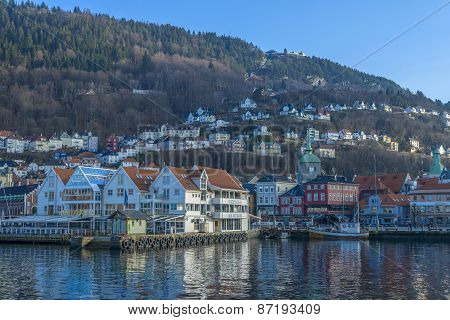 Historic Buildings In The City Of Bergen, Norway