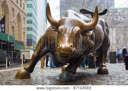 Charging Bull in Lower Manhattan, NY.