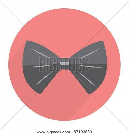 Bow tie Flat modern design with shadow Vector illustration