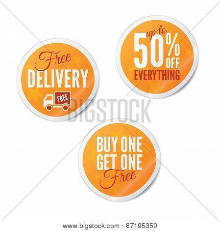 Summer Retail Stickers