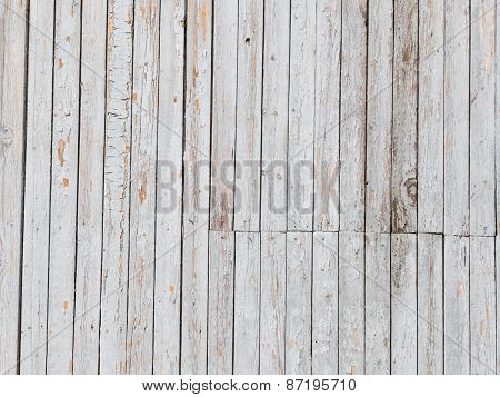 Old Light Wall Covered With Boards