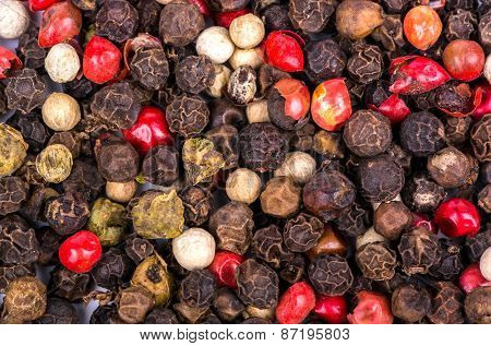 Background Of Dry Pepper