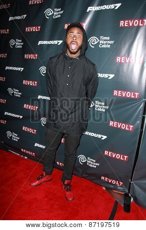 LOS ANGELES - APR 1:  Dominic Wynn Woods, aka Sage the Gemini at the Live Perfomances from