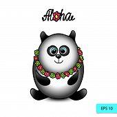 picture of panda bear  - Panda traveler isolated character - JPG