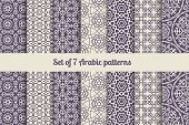 pic of pattern  - Arabic or muslim patterns set for backgrounds and textures - JPG