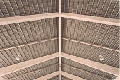 image of roof-light  - Roof structure in public market in Phuket Thailand - JPG