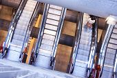 image of escalator  - a escalator in the metrostation of naples - JPG