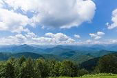 stock photo of naturel  - View of the foothills of the Pyrenees in Biert - JPG