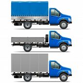 picture of modification  - Lorry Icons Set 1 including three trucks of various modifications isolated on white background - JPG