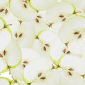 pic of household farm  - Watercolor seamless pattern with green sliced apples - JPG