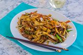 picture of noodles  - Chicken and vegetables stir - JPG