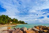 picture of chalet  - Hotel at tropical beach Praslin  - JPG