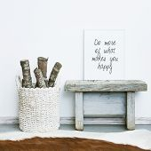 foto of scandinavian  - wooden frame DO MORE OF WHAT MAKES YOU HAPPY - JPG