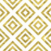 Постер, плакат: White and gold pattern