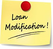 stock photo of modification  - illustration of loan modification note on white background - JPG