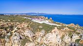 foto of lagos  - Aerial from the lighthouse in Lagos Portugal - JPG