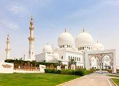 foto of arabic  - Famous Sheikh Zayed mosque in Abu Dhabi - JPG