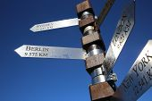 image of south-pole  - Signpost at Cape Point in South Africa - JPG