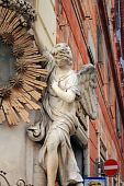 Hanging statue of an angel
