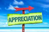image of appreciation  - Appreciation sign with beach background - JPG