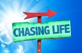 picture of chase  - Chasing Life sign with sky background - JPG