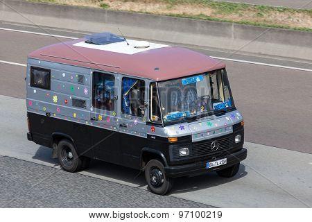 Old Mercedes Benz Camper Van