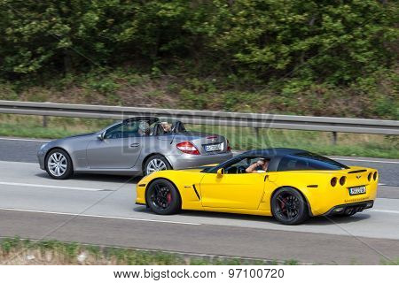 Sports Cars On The Highway