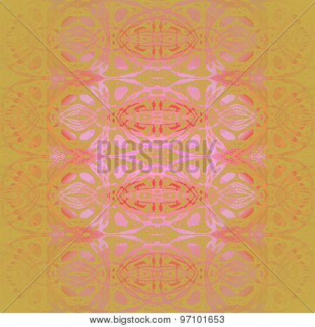 Seamless pattern ocher pink