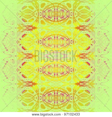 Seamless pattern yellow green