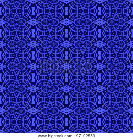 Seamless pattern blue black