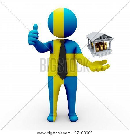 3d businessman people Sweden- Banking and Finance