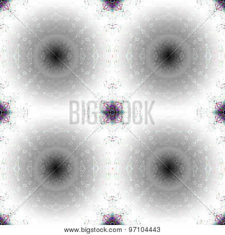 Seamless pattern white black shining