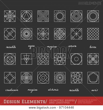 Set Of Geometric Hipster Shapes And Logotypes65488117Black