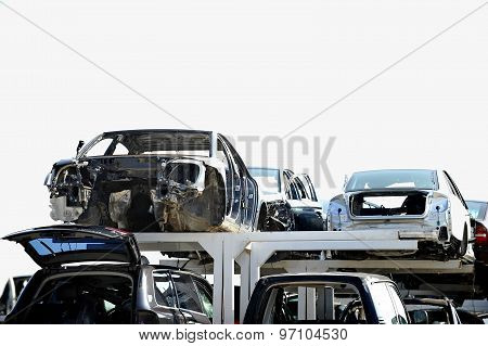 Wrecked Car Junkyard