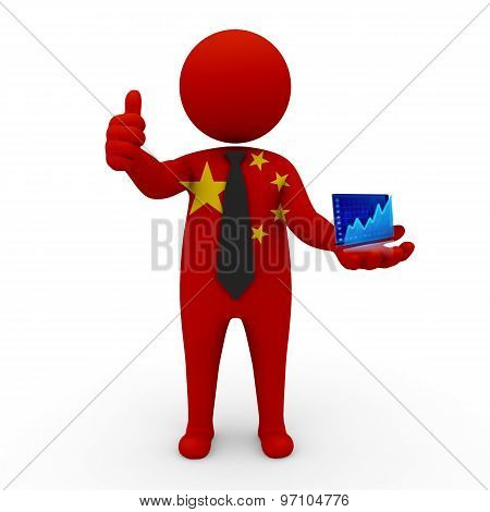 3d businessman people China - Stock Exchange of China