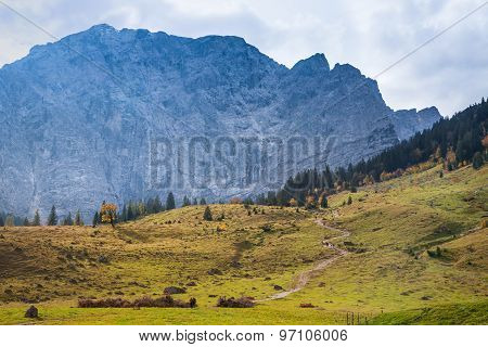 Autumn landscape in the Alps. Austria Tirol