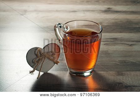 Black Tea, And A Wooden Heart