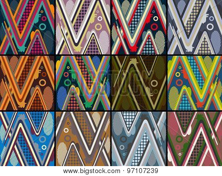set of abstract futuristic pattern background for modern skateboard. vector illustration eps10