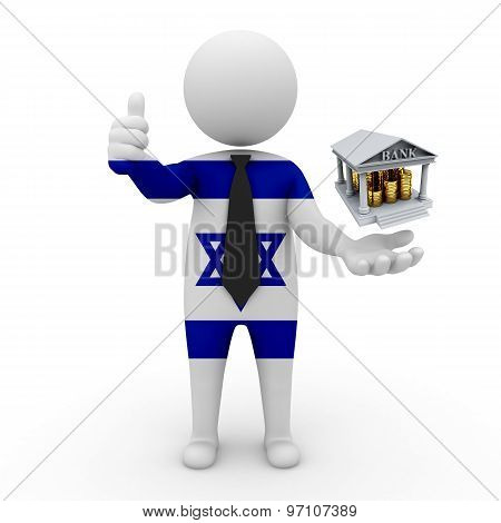 3d businessman people Israel - Banking and Finance