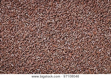 Pattern Of Chocolate Sprinkles Texture And Background