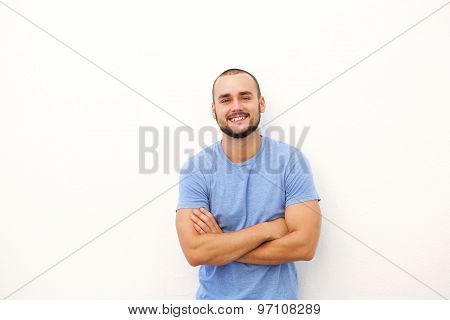 Charming Young Man Smiling