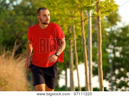 Young Man Exercise Running Outdoors