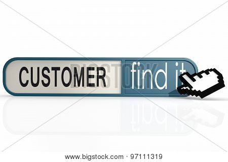 Customer Word On The Blue Find It Banner