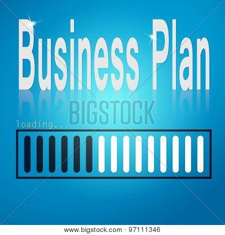 Business Plan Blue Loading Bar