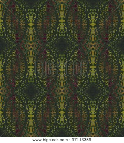 Seamless pattern green gold brown